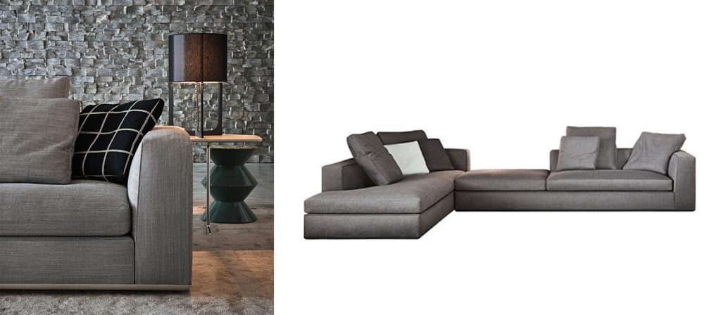 Minotti Powell design sofa