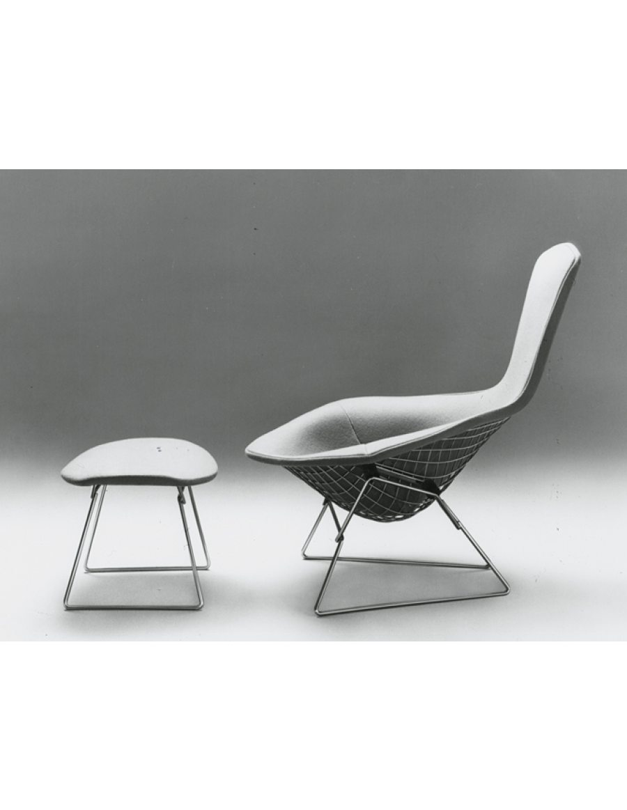 Knoll bertoia bird chair van der donk interieur for Bertoia stoel