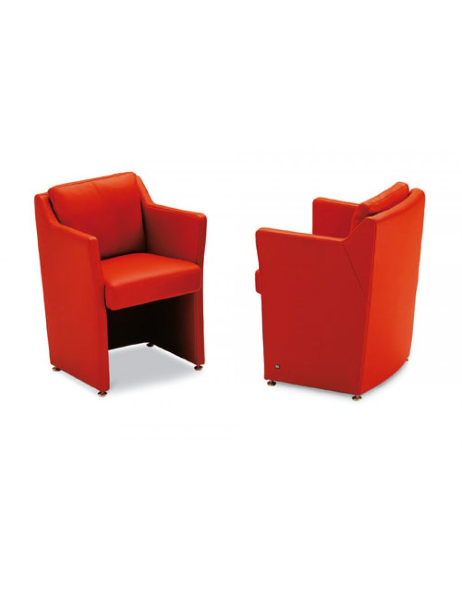 Rolf Benz 7100 fauteuil rood