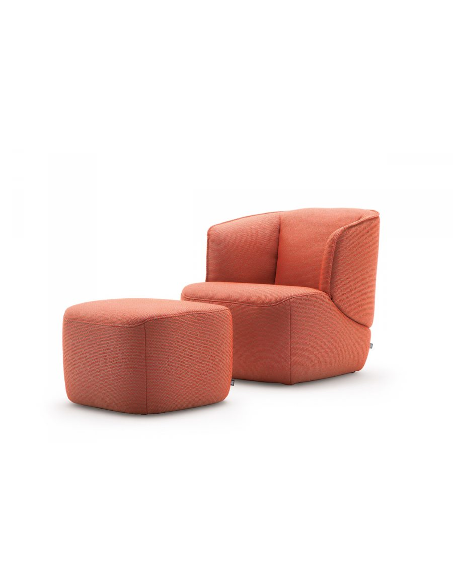 Rolf benz 384 fauteuil van der donk interieur for Rolf benz hocker