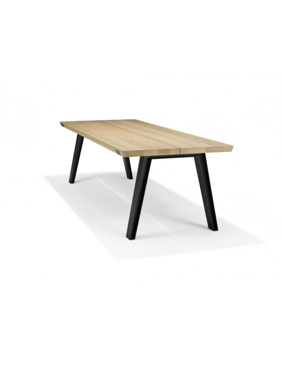 Qliv Side to Side tafel product hout staal