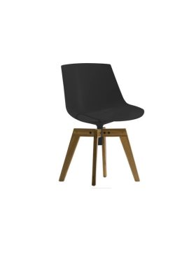MDF Italia Flow chair 4-legged oak base