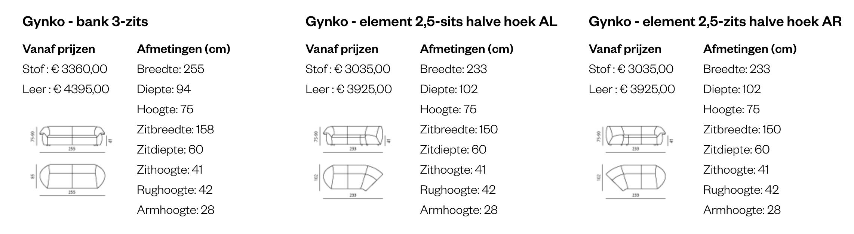 Leolux Gynko bank