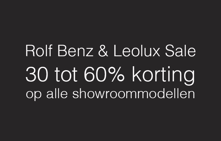 Leolux en Rolf Benz Sale