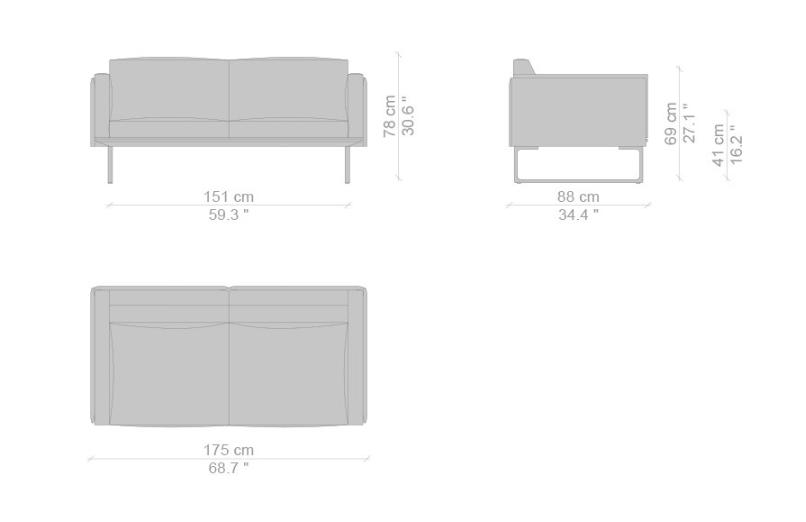 Cassina 8 sofa